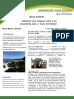 Newsletter, October, 2011, Volume I, Issue I (Spanish)