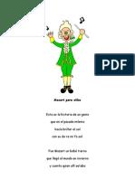 Mozart para niños poema
