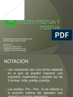 Notacion Prefija y Posfija