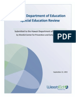 Special Education Report