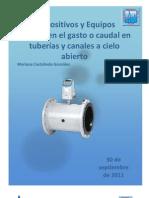 Dispositivos y Equipos que miden el gasto o caudal en tuberías y canales a cielo abierto