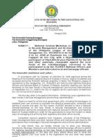 Letter to All Punong Barangay - Cagayan de Oro City