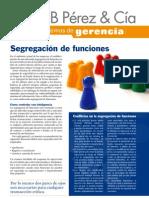 SEGREGACION DE FUNCIONES