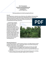 Earth Learning Food Forest Recommendations
