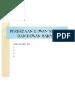 Presentation-perbezaan Dewan Negara Dan Dewan Rakyat