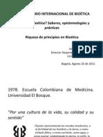 Qué es Bioética, Jaime Escobar