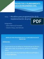 Modelos Para Programacion de La Implementacion de Proyectos