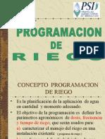 Programación de Riego - Ing Pedro Chucya