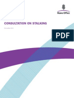 Consultation on Stalking
