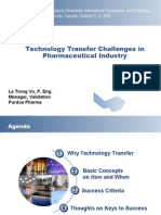 Technology Transfer Challenges in Pharmaceutical Industry