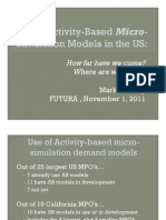 Activity-Based Demand Simulation Models in the USA