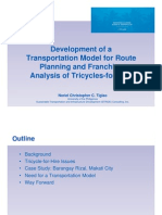Development of a Transportation Model for Route Planning and Franchise Analysis
