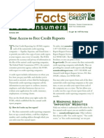 FCC Facts--Your Access to FREE Credit Reports