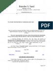 Brandon S. Sand Settlement Demand Letter
