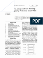 The Structural Analysis of Tall Buildings Having Irregularly Positioned Shear Walls