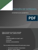 Concepto geométrico de derivada
