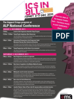 Politics in the Hall - ALP National Conference Fringe