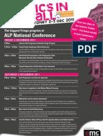 Politics in the Hall - ALP National Conference Fringe
