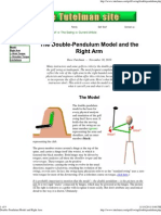 Double-Pendulum Model and Right Arm