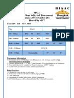 BISAC U17 Boys Volleyball Tournament Schedule