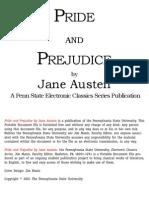 Jane Austen - Pride and Prejudice (1813)