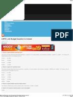 Link Budget Questions