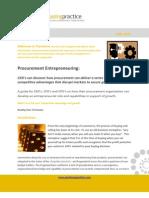 Sept 2010 - Procurement Entrepreneur Ing