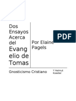 Un ensayo Del Evangelio de Tomas Por la academica en religion Elaine Pagels