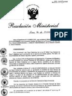 RM372-2011-MINSA Guia Tecnica de Procedimientos de Limpieza y Desinfeccion de ambientes en los EESS y Servicios Medicos de Apoyo.