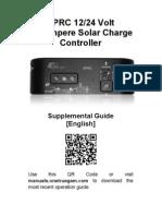 EPRC10-EC 12/24 Volt 10 Ampere Solar Charge Controller