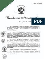 RM566-2011-MINSA NTS para la prevencion, diagnostico y tratamienoto de la Hepatitis Viral B