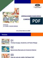 Operaciones Bancarias Comercio Exterior