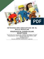 INTEGRACIÓN EDUCATIVA EN EL AULA REGULAR