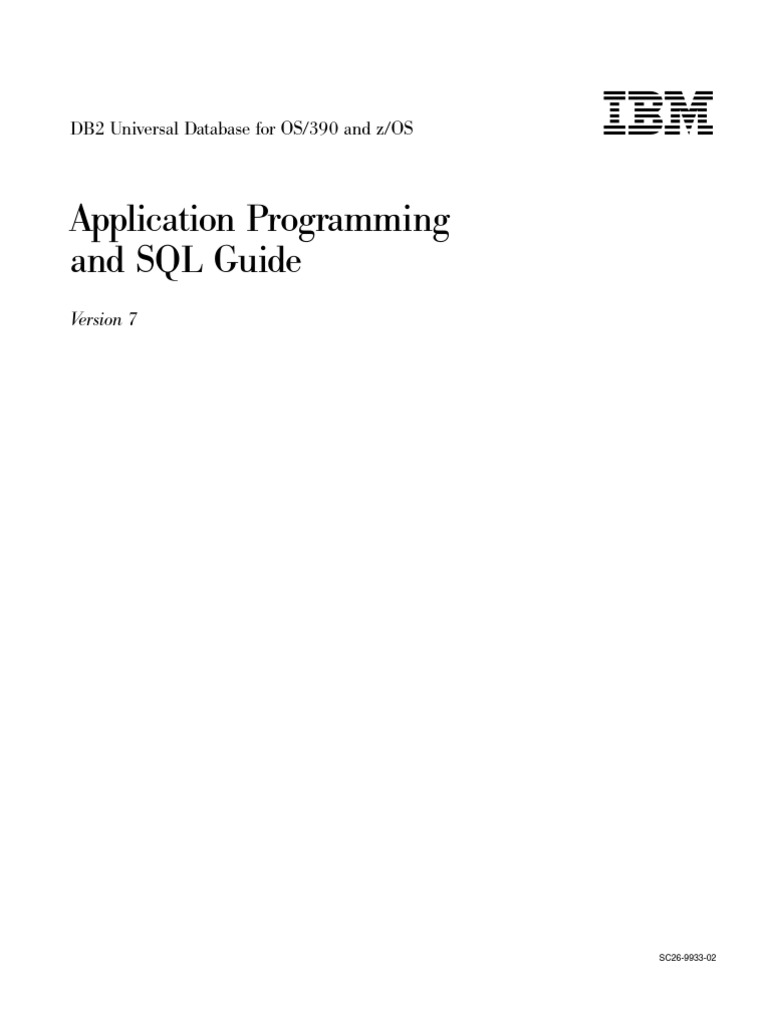 4 DB2 Application Programming Guide | Sql | Computer Programming