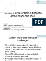 1.combating water borne diseases at HH level