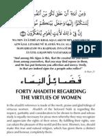 40 Ahadith on the Virtues of Women