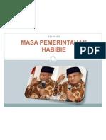 MASA PEMERINTAHAN HABIBIE