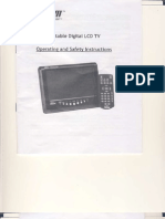 Digital Prism Portable LCD TV Manual