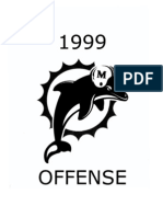 1999 Miami Dolphins Offense - 404 Pages