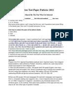 Accenture Written Test Paper Pattern