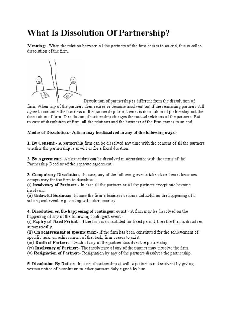 Dissolution Of Partnership United Kingdom Insolvency Law Partnership