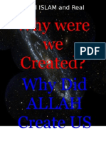 Why Did ALLAH Create Mankind0