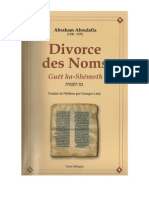 DIVORCE DES NOMS - GUET HA-SHÉMOTH, abraham aboulafia