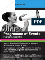 Angus Center for Enterprise - Programme of Events (February to June 2013)