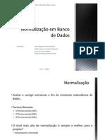 Normalização em Banco de Dados