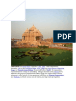 Akshardham is a Hindu Temple Complex in Delhi