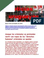 Noticias Uruguayas Lunes 14 de Noviembre de 2011
