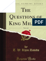 The Questions of King Milinda Vol 1 of 2