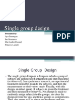 Single Group Design
