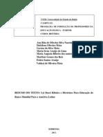 Lei Darci Ribeiro e diretrizes Para Educaçao do Banco Mundial Para A America Latina